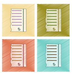 assembly flat shading style icon exam score vector image