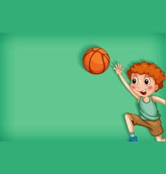 Background template design with boy playing vector