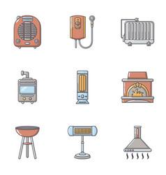 Backyard icons set cartoon style vector