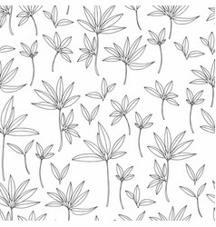 Black and white floral pattern background vector