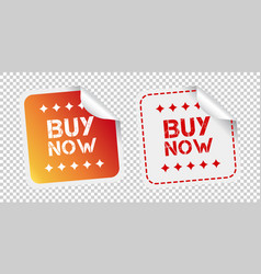Buy now stickers on isolated background vector
