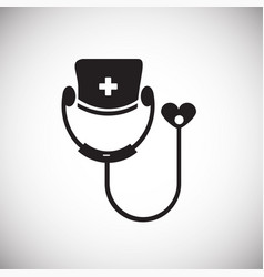 Cardiology on white background vector