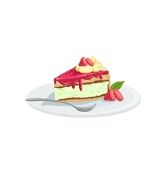 Cheesecake European Cuisine Food Menu Item vector image