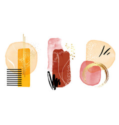 contemporary geometric art color balance wall vector image