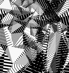 Contrast creative continuous lines pattern black vector