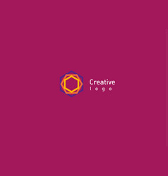 Creative abstract logo a geometric pattern vector