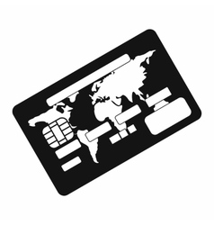 Credit card black simple icon vector image