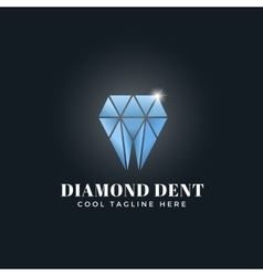 Diamond dent abstract concept emblem sign vector