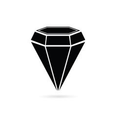 Diamond jewel black vector
