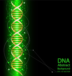 Dna abstract green colour background vector