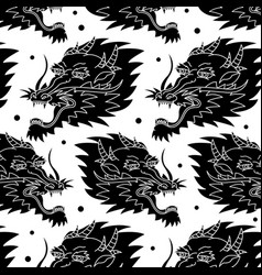 dragon traditional tattoo pattern vector image
