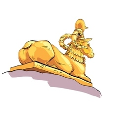 Fantastic Golden sheep from tales vector