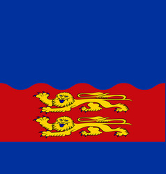 Flag of calvados in normandy is a region of france vector