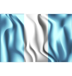 Flag of Guatemala Rectangular Shaped Icon vector