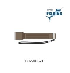flashlight item fishing vector image
