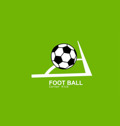 foot ball conner kick vector image