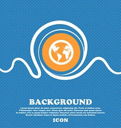 Globe icon sign Blue and white abstract background vector
