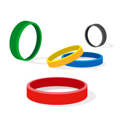 Group of colored ring vector