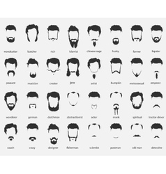 Hair and beards of different faiths vector