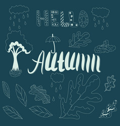 hand drawn elements arranged individually vector image