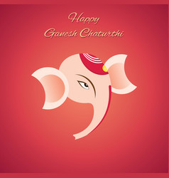 Happy ganesh chaturthi design vector