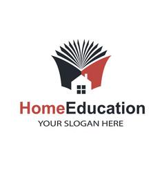 Home education emblem vector