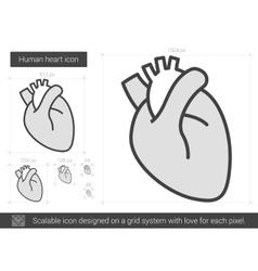 Human heart line icon vector image vector image
