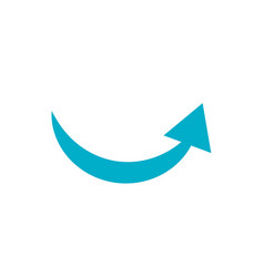 Isolated blue arrow icon design vector