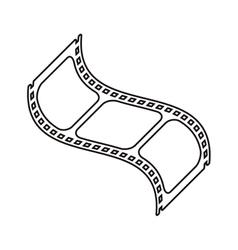 Isolated cinema film strip design vector