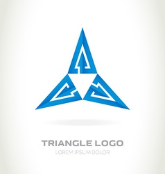 Logo made of triangles with arrows abstract logo vector