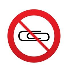 No Paper clip sign icon Clip symbol vector