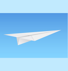 paper airplane on blue background vector image