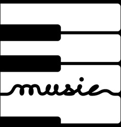 Piano keys music calligraphy vector