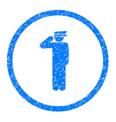 Police officer rounded grainy icon vector