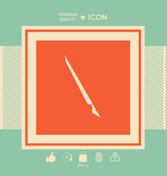 quill pen fountain pen icon vector image