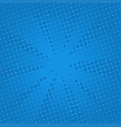 retro rays comic blue background vector image