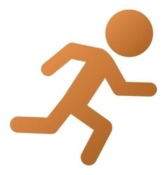 Running Child Gradient Icon vector