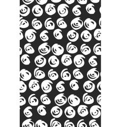 seamless black and white flourish pattern vector image