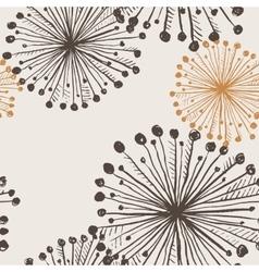 Seamless texture of dandelion flowers vector image