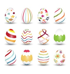 Set of easter egg icons vector image