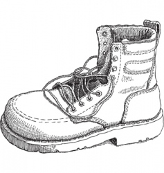 Sketch of a work boot vector