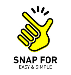 Snap logo and icon for easy and simple vector