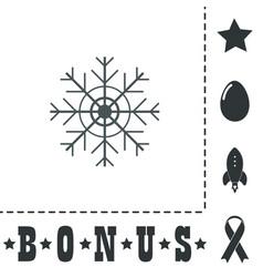 Snowflake flat icon eps vector