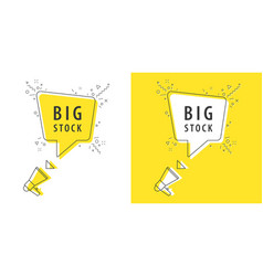 speaker and tag big stock vector image