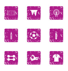 sport commerce icons set grunge style vector image