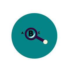 Stylish icon in color circle magnifying glass vector