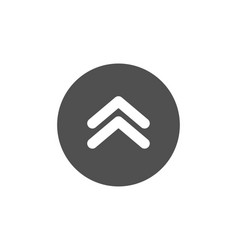 Swipe up button icon scrolling arrow sign vector