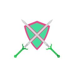 Sword shield Icon vector image