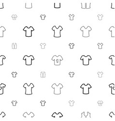 t-shirt icons pattern seamless white background vector image