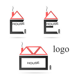 the logo of the house vector image